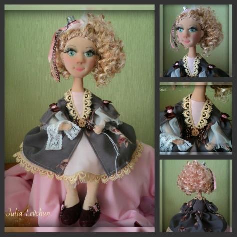 Продается авторская кукла Адель-швейка
