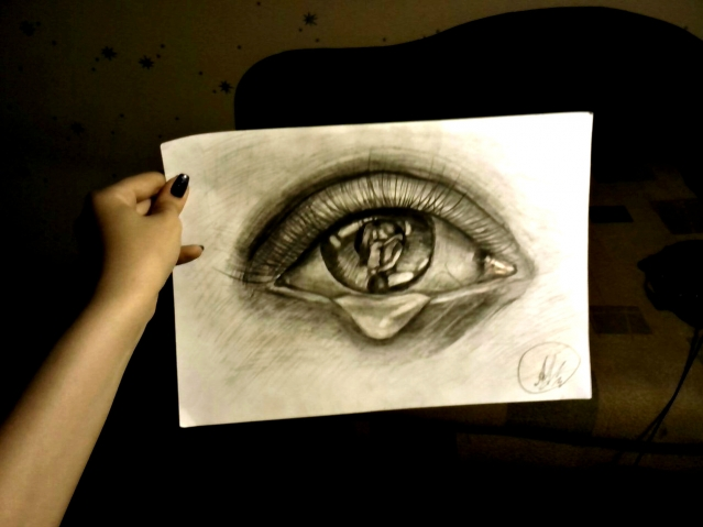 """""""всё написано на глазах"""""""