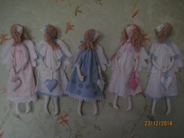 Новые ангелочки по выкройке Елены Вайнатовской