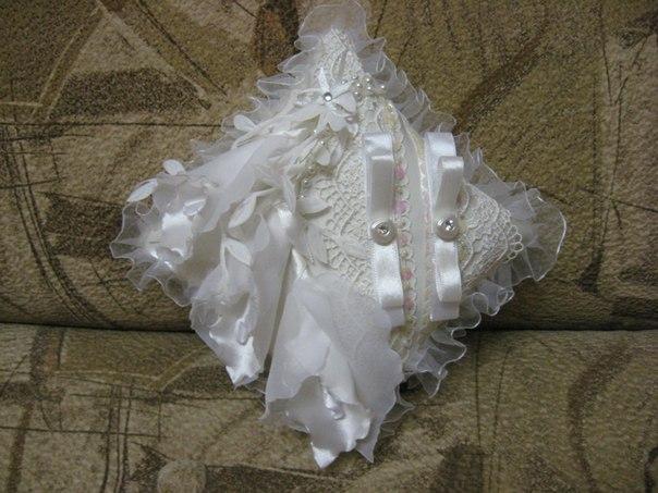 Мои свадебные подушечки для колец...