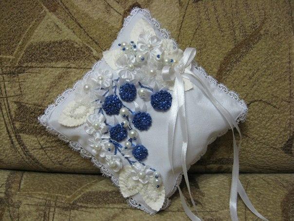 Мои новые свадебные подушечки...