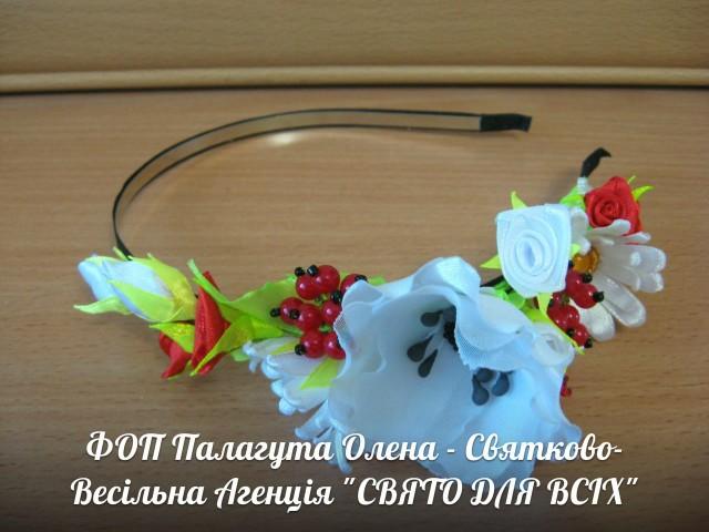 Ободок с цветами рукоделие