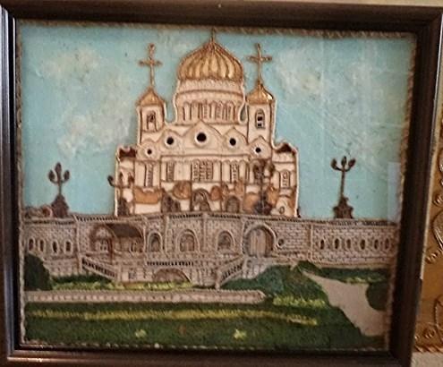 """""""Храм Христа Спасителя"""" в технике гильоширования"""
