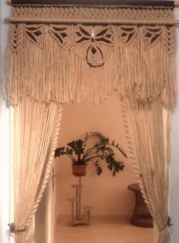 технику плетения шторы,