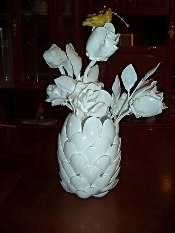 Цветы и ваза из пластиковых ложек от Петерс Маргариты