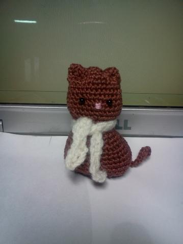 Котенок. Моя первая амигуруми.