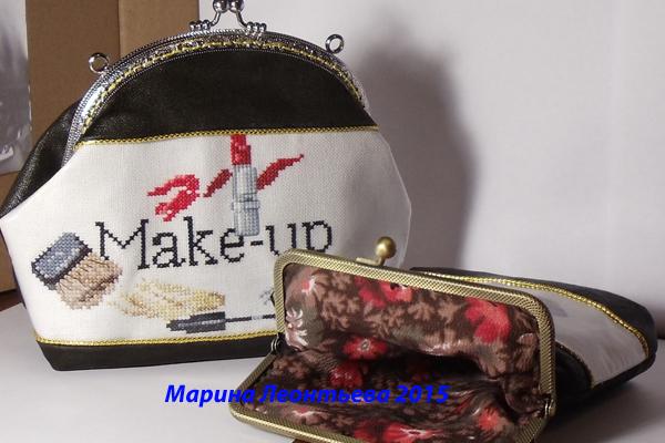 Как сделать сумочку с фермуаром (немного моего МК+МК из интернета)