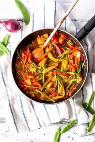 Кисло-сладкие овощи по-тайски