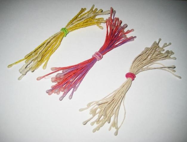 Тычинки для цветов из ниток. Мастер-класс
