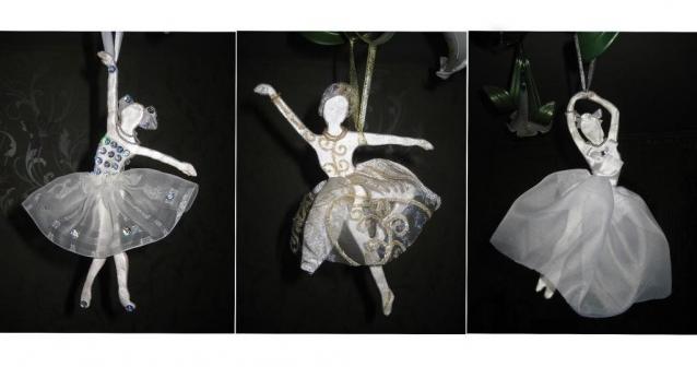 Балерины из солёного теста. Новогоднее украшение своими руками. Мастер класс