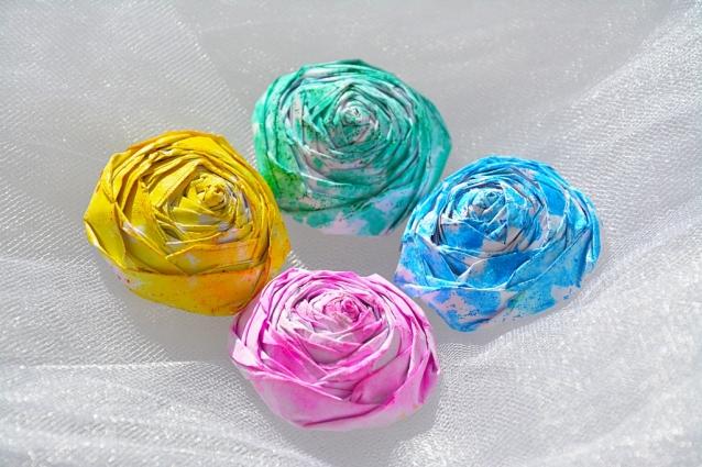 Розы из мокрой бумаги своими руками. Мастер класс