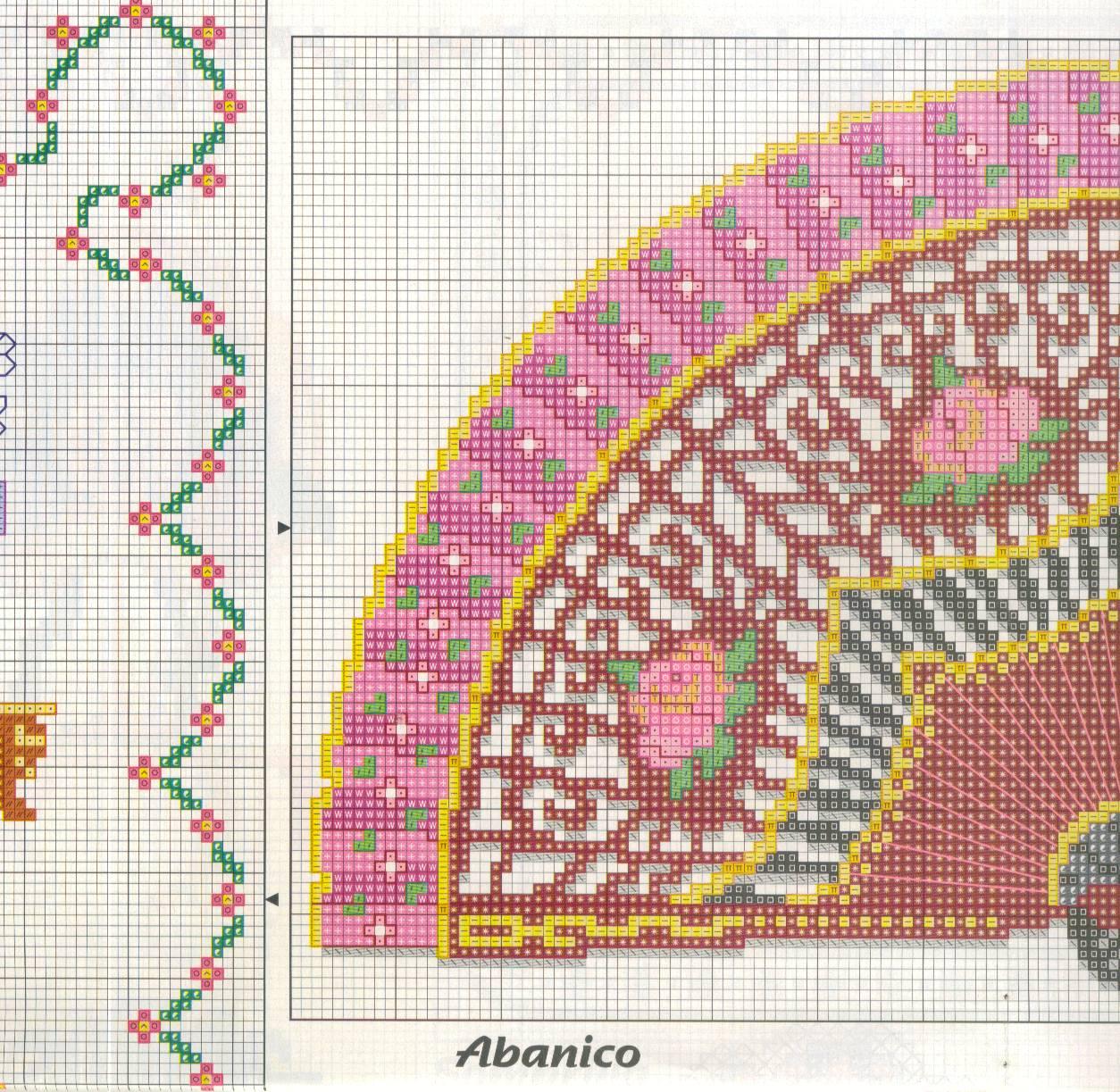 Схемы вышивки крестом вееров 125