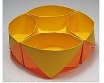 Коробочка-оригами., оригами крорбочка