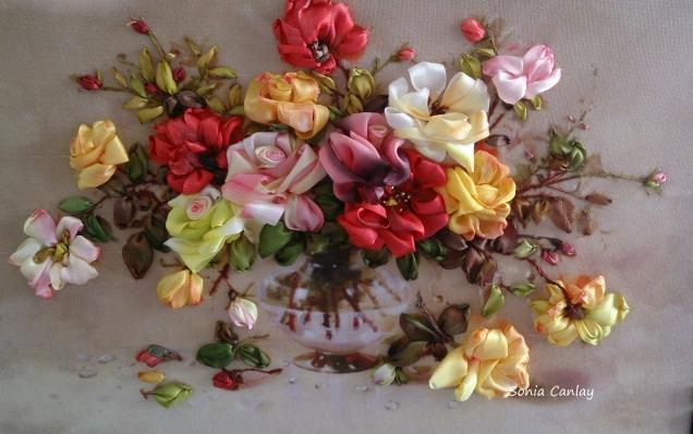 Осенние розы (моя вышивка)