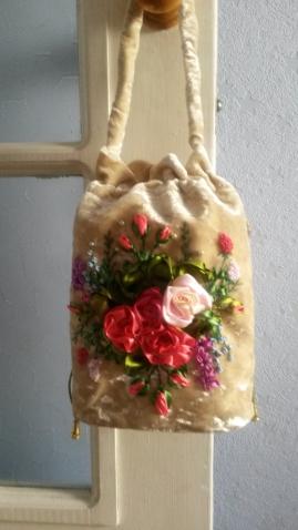 Сумочка с фермуаром и сумка -торбочка