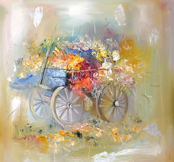 Цветы и женщина, anchor, цветы