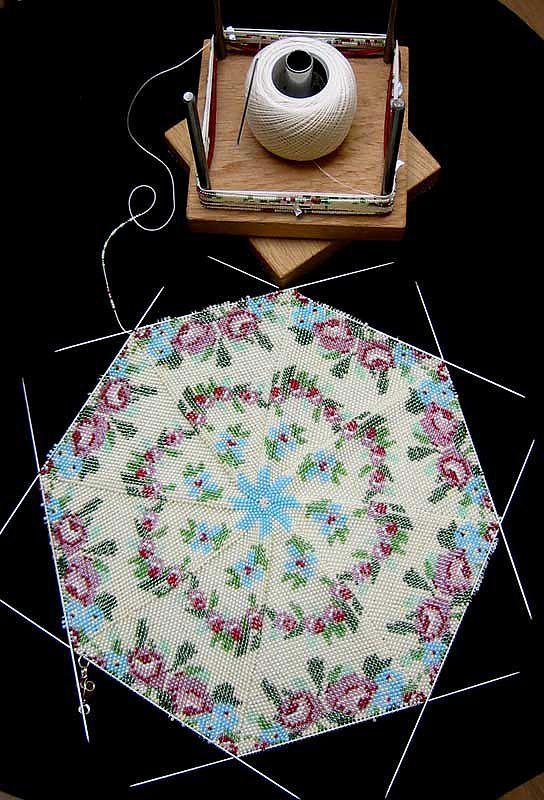 Вязание бисером крючком по схеме