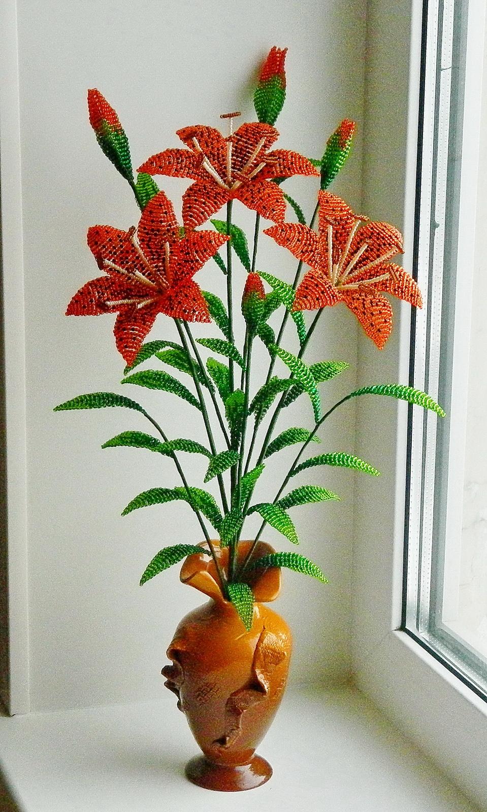 Цветы из бисера фото цены