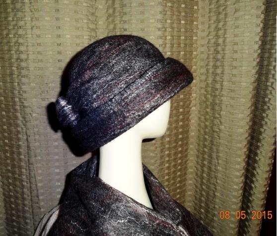 Валяная шляпка Маковая Росинка 2