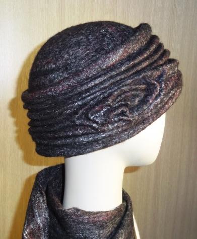 Валяная шляпка-таблетка Маковая Росинка 3.