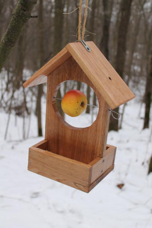 Деревянную кормушку для птиц своими руками