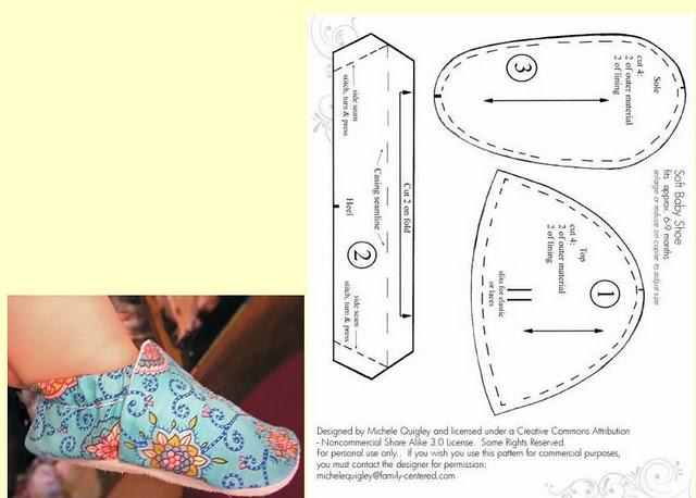 Сшить обувь для малыша выкройки