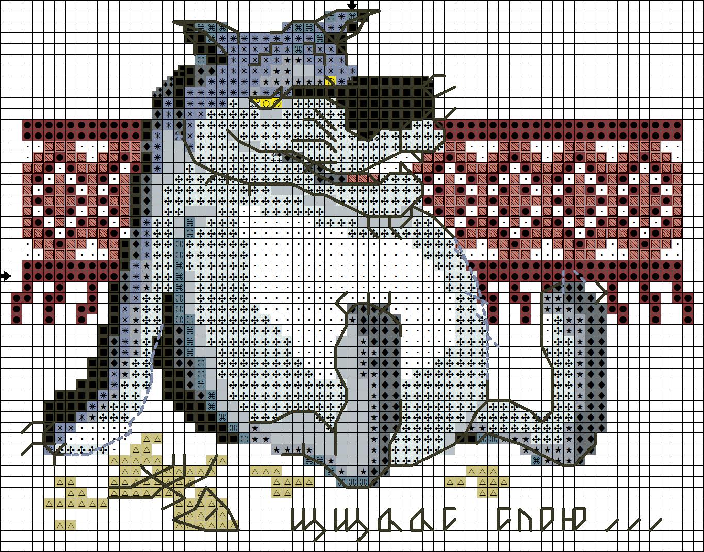 Вышивка волк ты заходи если что