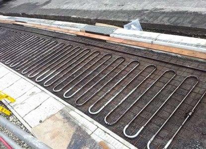 В городах какой страны есть тротуары с подогревом?