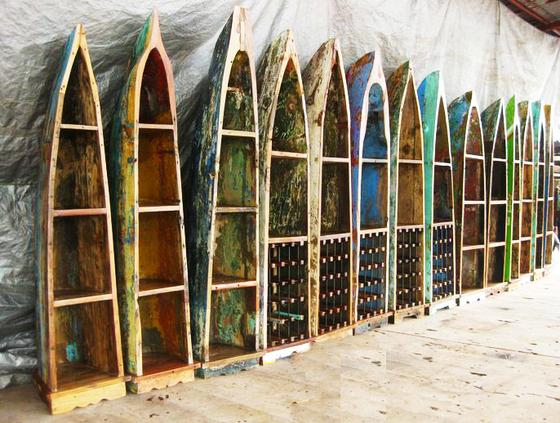 Мебель из старых рыбацких лодок.