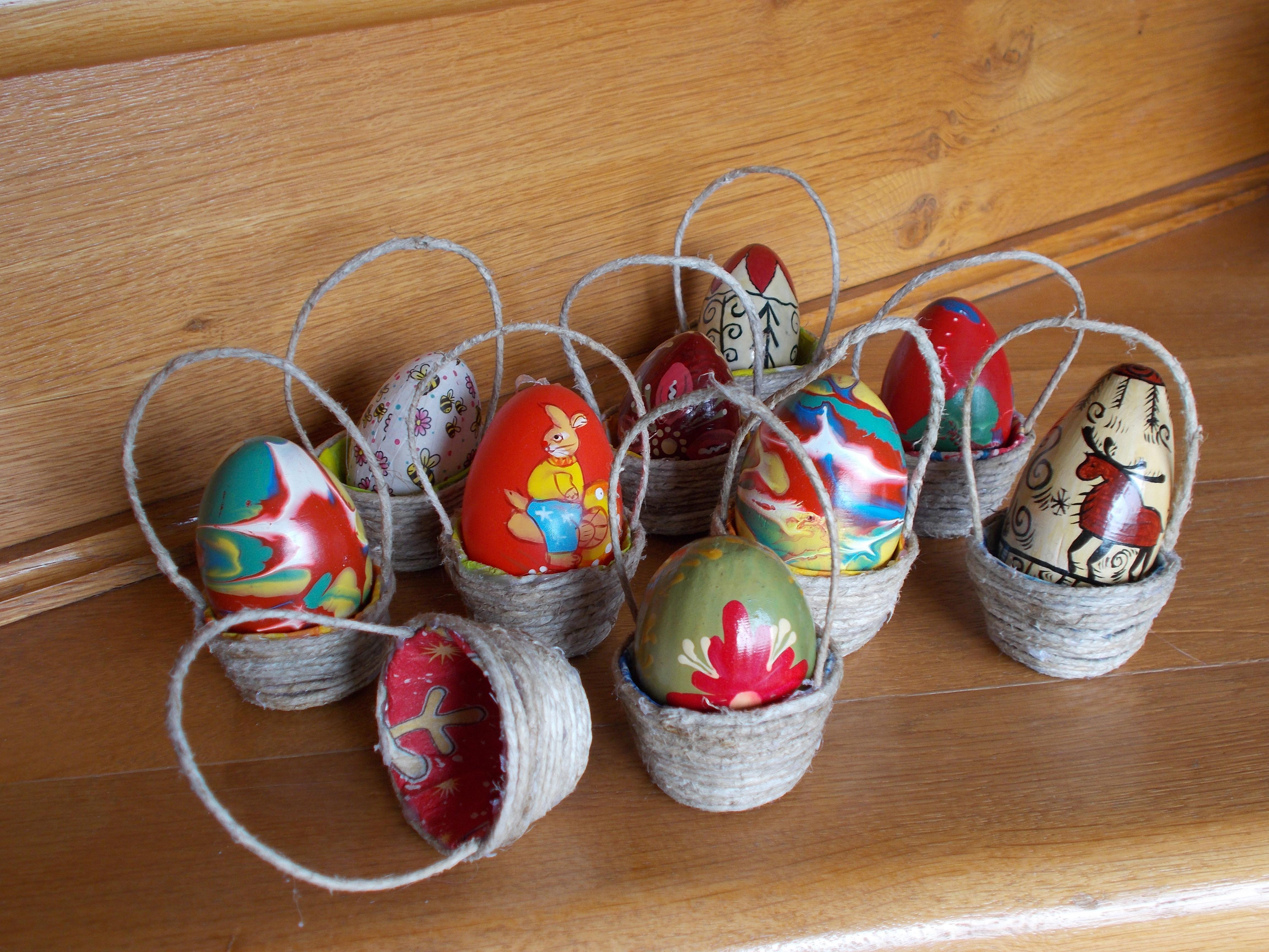 Поделки корзинки с яйцами