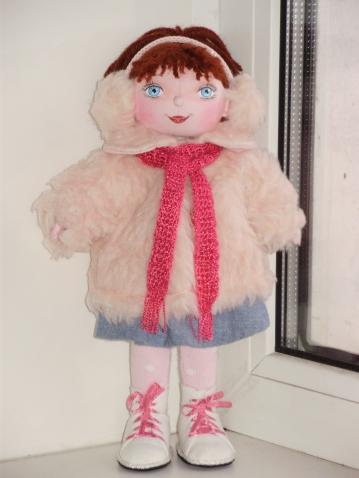 Авторская текстильная кукла Танюшка.