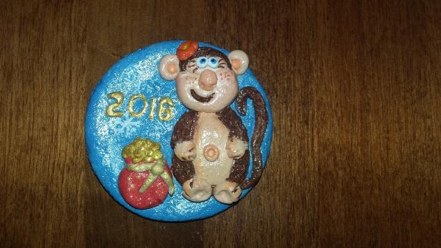 Обезьянка Марфуша, конкурс символ 2016, соленое тесто