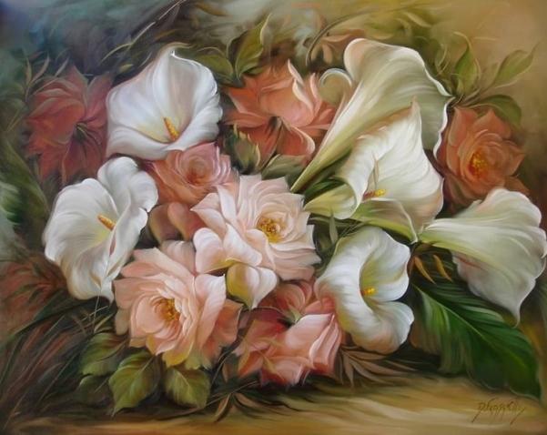 Красивые цветы с подарками картинки