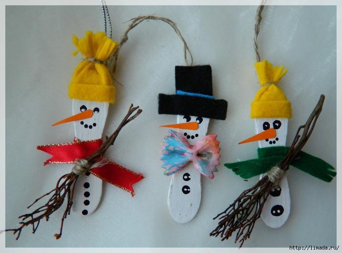 Сделать игрушки на новый год  с детьми