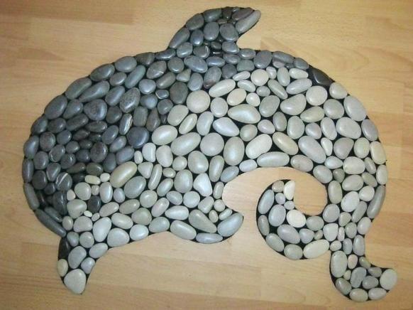 Как сделать коврик из морских камней