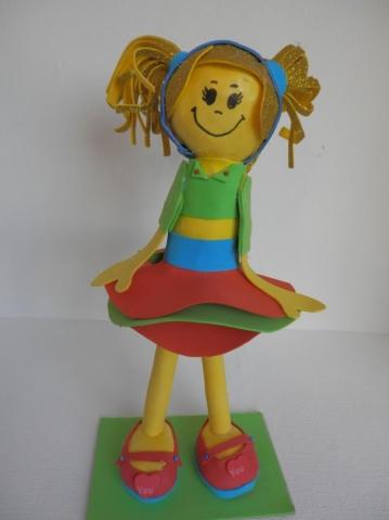My first foamiran doll