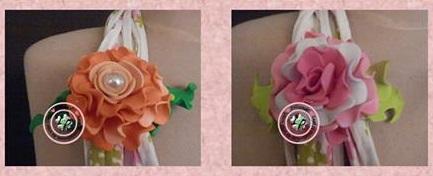 MK foamiran Flower pin