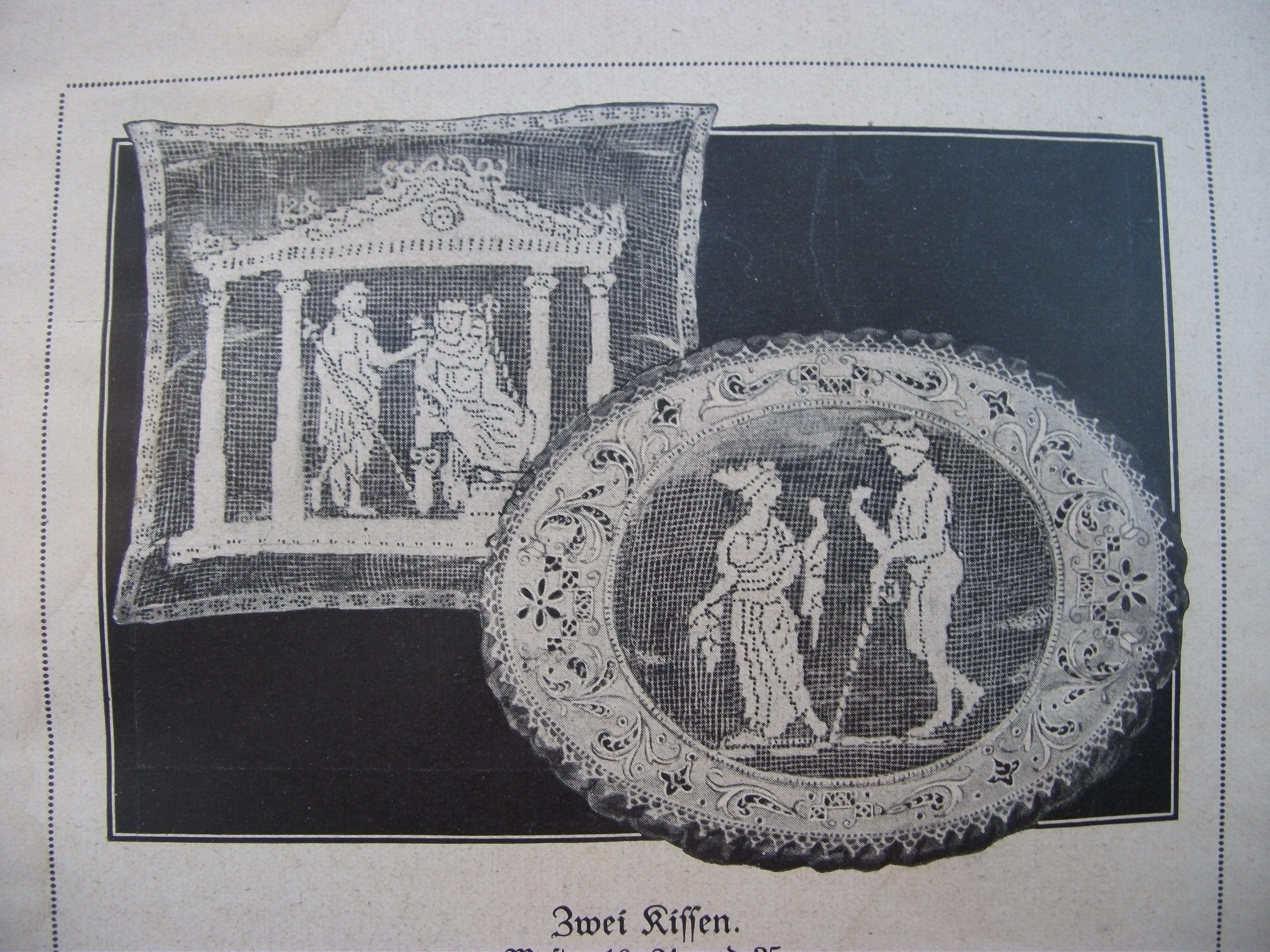Схемы старинного гипюра