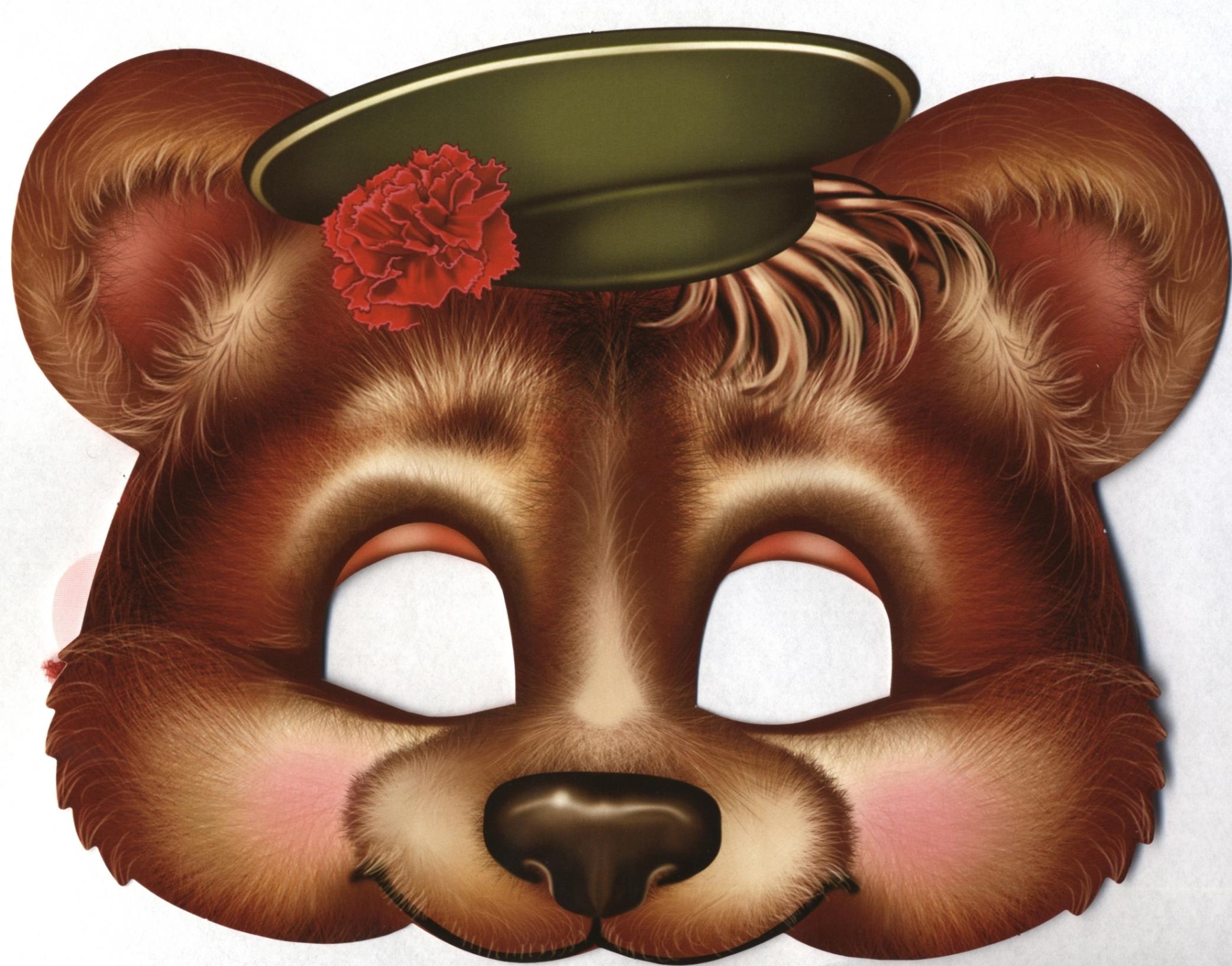 Маска медведя на голову своими руками