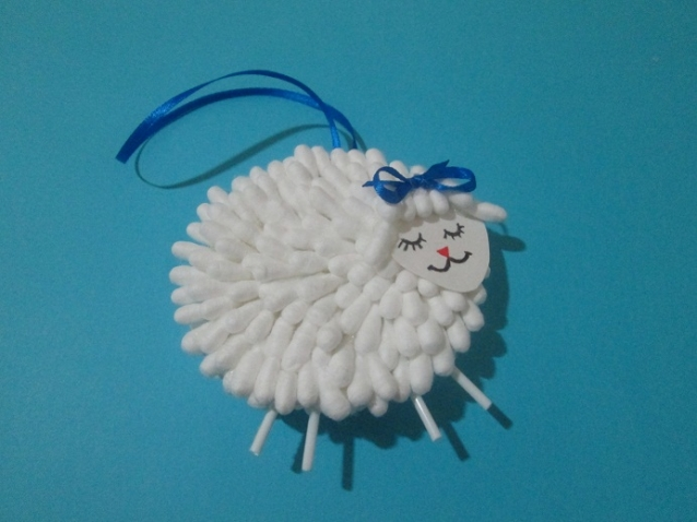 Елочные игрушки своими руками сделать овечку