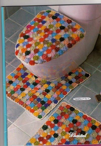 Как сделать коврик для ванны и туалета своими руками
