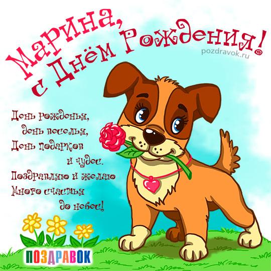 Поздравления с днём рождения марине прикольные