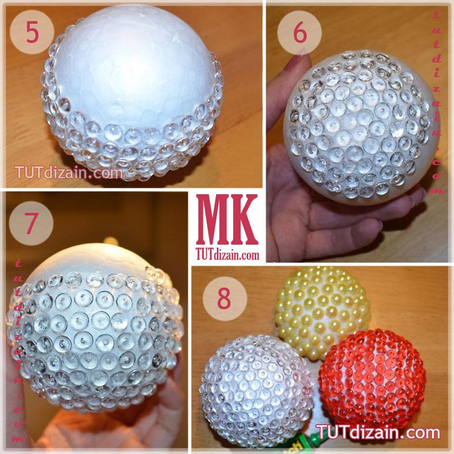 Как сделать шарики для ёлки своими руками