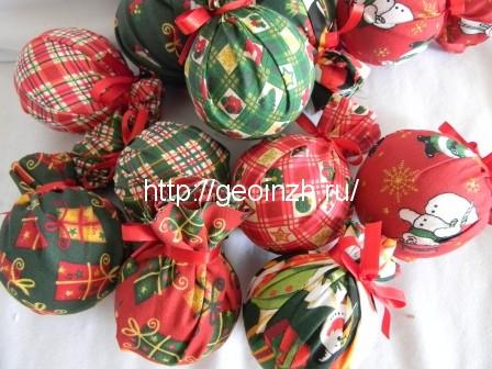 Смотреть картинки новогодние шары своими руками