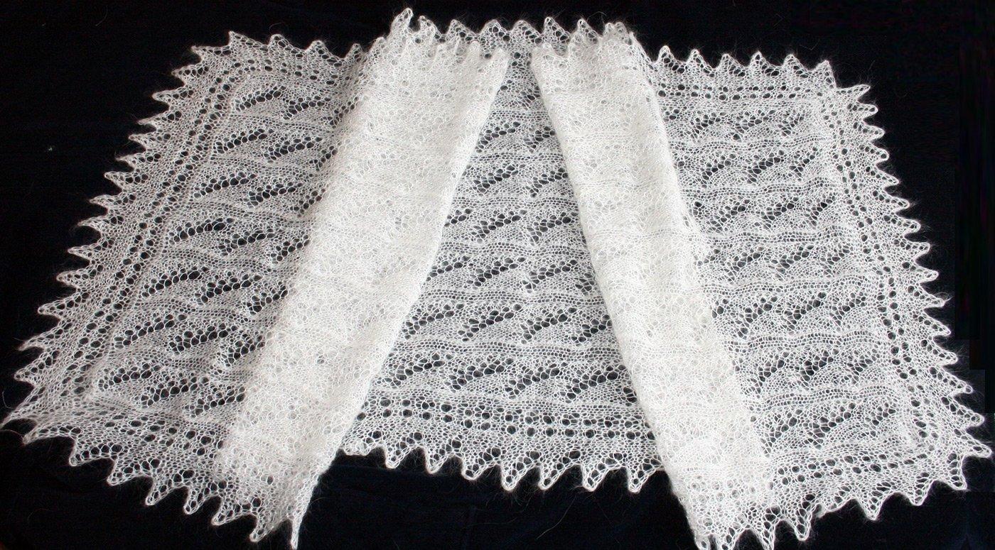 Как вязать платок пуховый платок