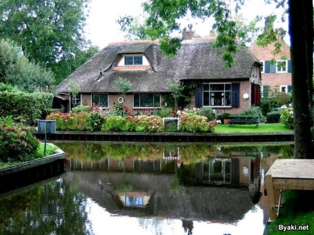 Картинки  Голландская  деревушка