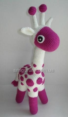 Вяжем жирафа крючком  (из инета)