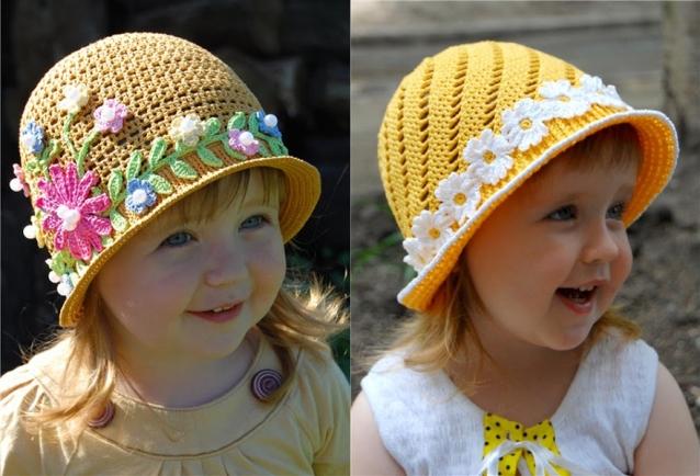 Чудесные летние шляпки-панамки для девочек.