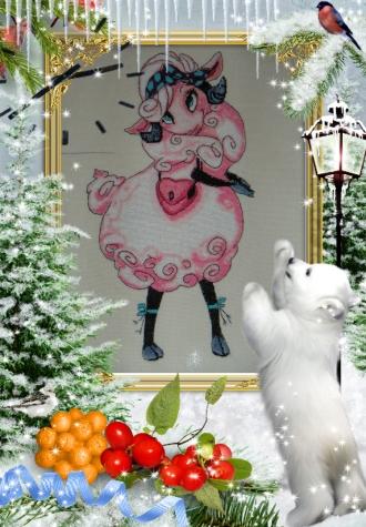 Новогодний конкурс!, вышивка, конкурс символ 2015 года