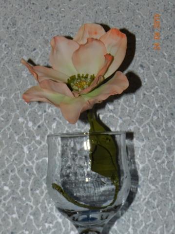 Первый цветочек из фоамирана.